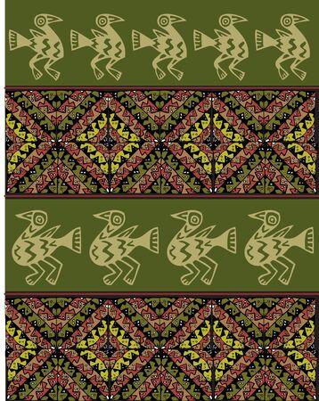 peruvian: Ancient pattern. Vector illustration