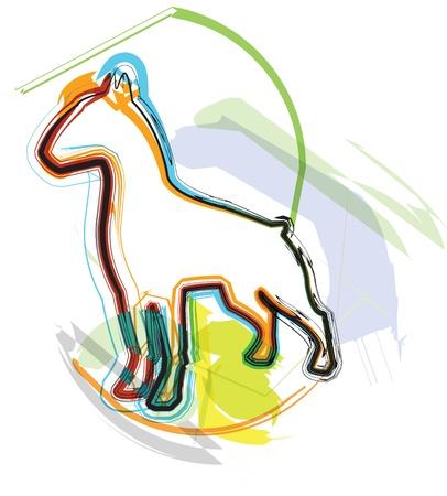 Dog, vector illustration Stock Vector - 10892631