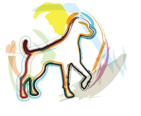 Dog, vector illustration Vector