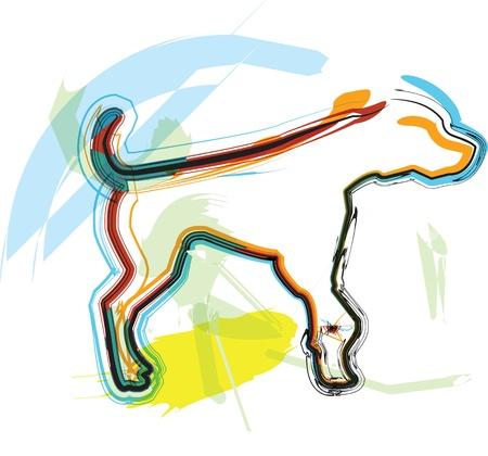Dog, vector illustration Stock Vector - 10892640