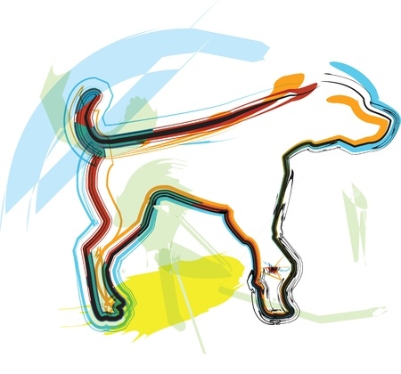 Dog, vector illustration