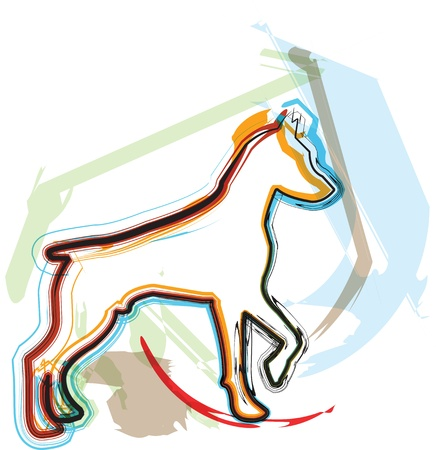 hunting dog: Dog, vector illustration