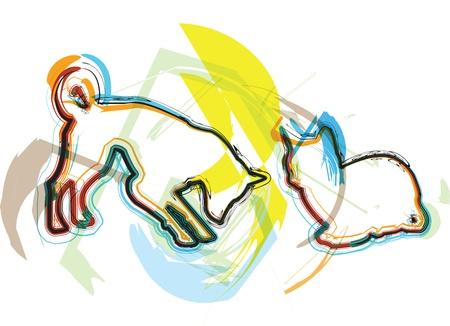 kiddish: Cat & Dog illustration Illustration