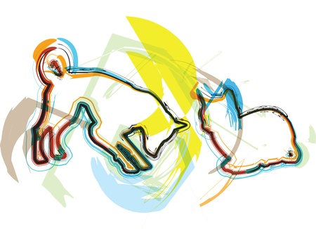 Cat & Dog illustration Illustration