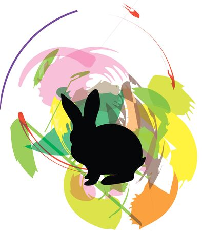 Rabbit illustration Stock Vector - 10892532
