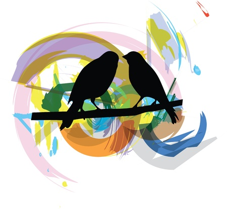 Birds illustration Stock Vector - 10892657