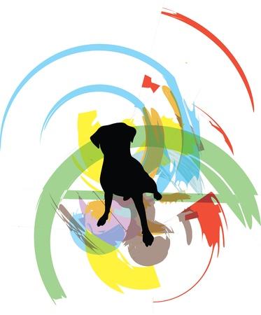 Dog, vector illustration Stock Vector - 10892554
