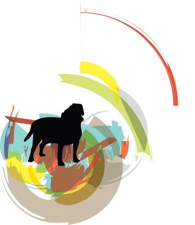 Dog, vector illustration Stock Vector - 10892585