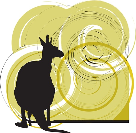 zoo dry: kangaroo vector illustration Illustration