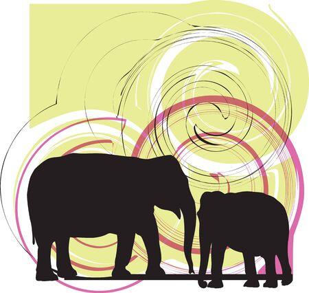 Elefant illustration Vector
