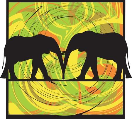 africa kiss: Elefant illustration