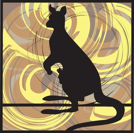 australia landscape: kangaroo vector illustration Illustration