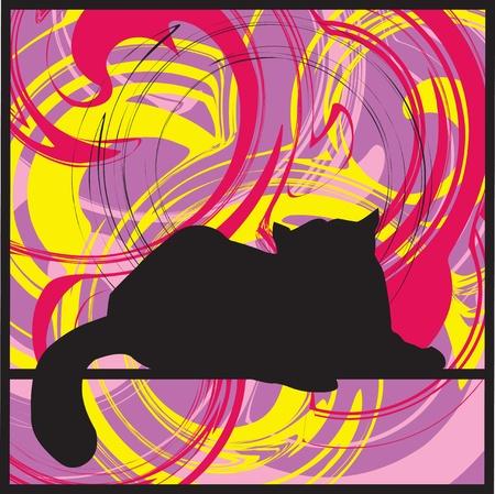 Cat, vector illustration Vector