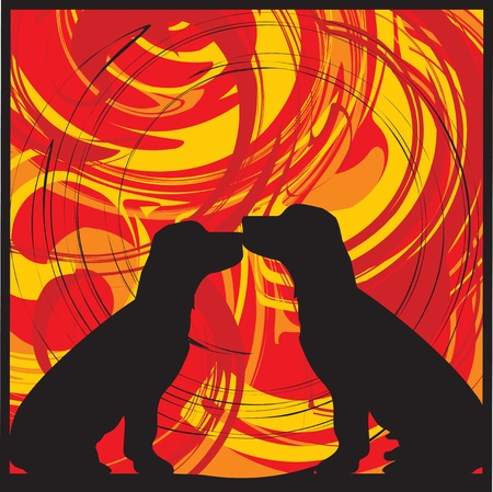 Dogs, vector illustration Stock Vector - 10892393