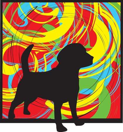 Dog, vector illustration Vector