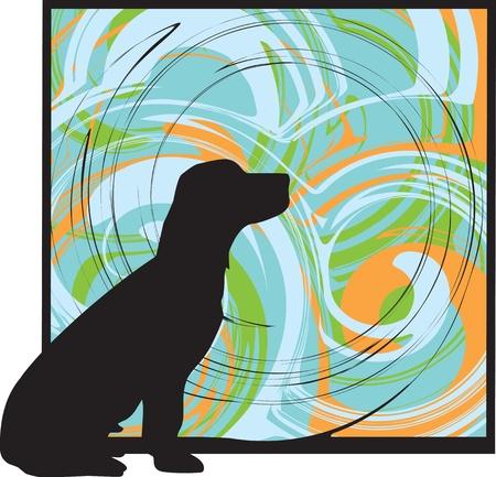 sencillez: Perro, ilustración vectorial Vectores