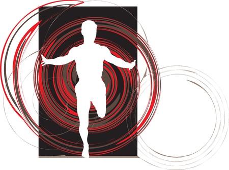 Running men Stock Vector - 10892335