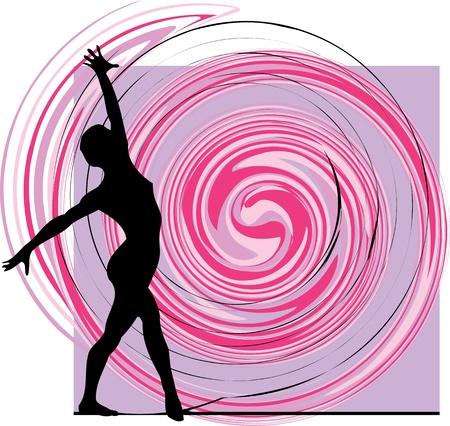 Acrobatische meisje illustratie