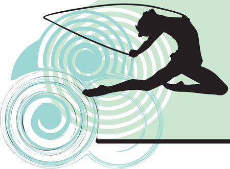 Acrobatic girl illustration Stock Vector - 10892337