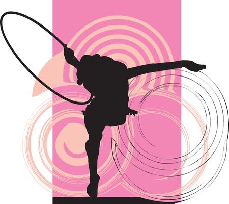 Acrobatic girl illustration Stock Vector - 10892338