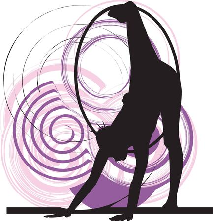 flexible woman: Acrobatic girl illustration