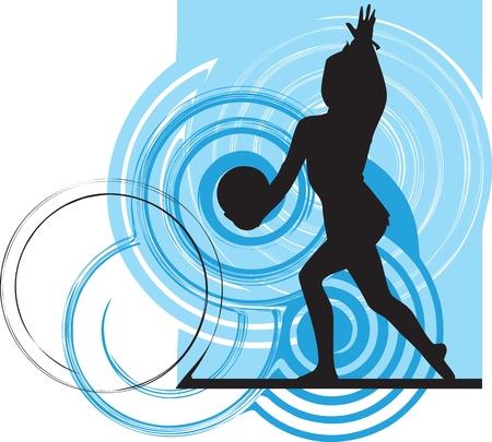 ballet studio: Acrobatic girl illustration