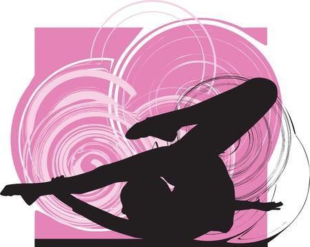 Acrobatic girl illustration Stock Vector - 10889375