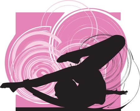 flexible girl: Acrobatic girl illustration