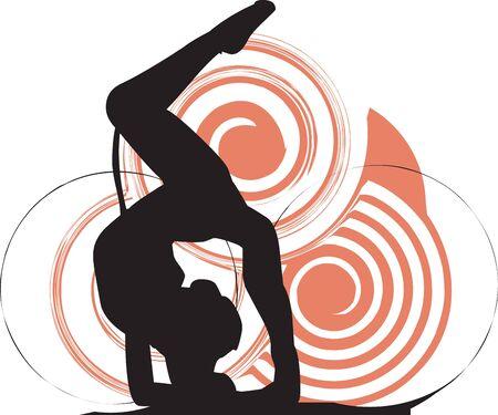 Acrobatic girl illustration Stock Vector - 10892334