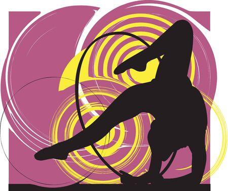 Acrobatic girl illustration Stock Vector - 10892346