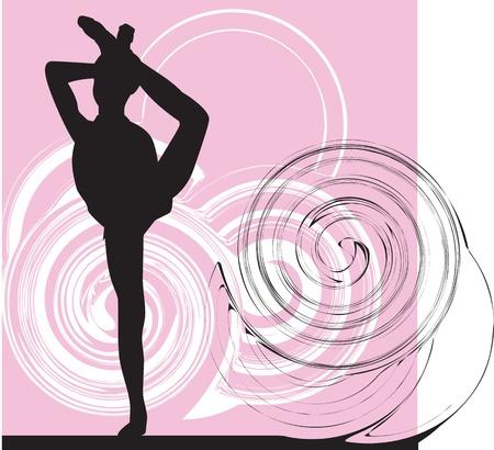 Acrobatic girl illustration Stock Vector - 10892378