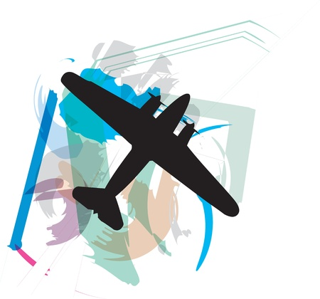 Airplane illustration Stock Vector - 10892539