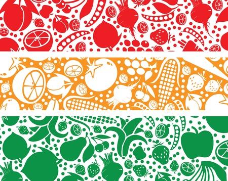 Fruits and Vegetables pattern illustration