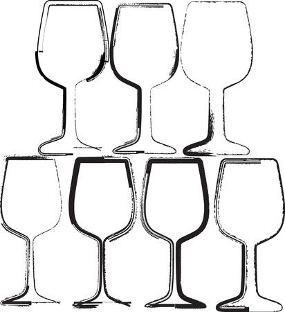 glasses illustration Stock Vector - 10892612