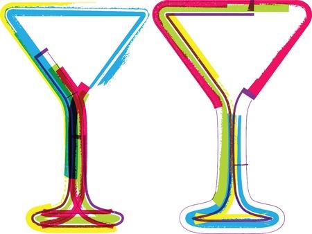 sauvignon: glasses illustration