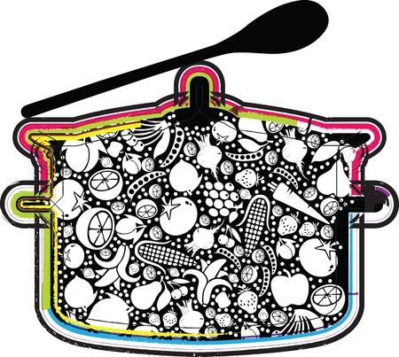 skillet: Soup illustration