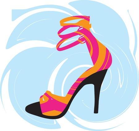 Woman Shoe, vector illustration Vector