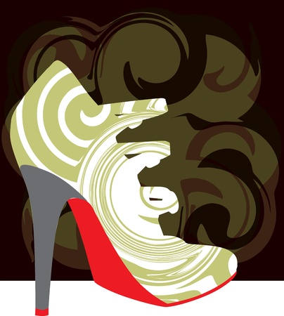 Woman Shoe, vector illustration Vector