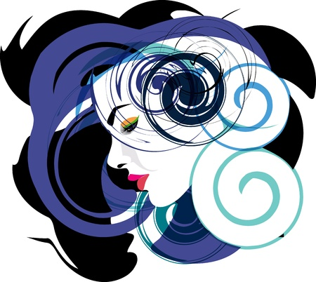 Woman, vector illustration Stock Vector - 10892402
