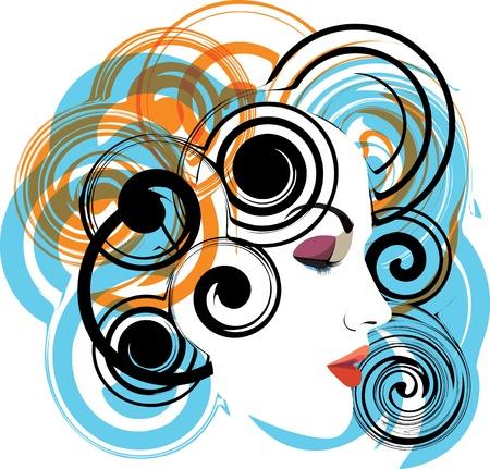 woman vector illustration Stock Vector - 10892560