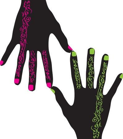 Hands design Stock Vector - 10892407