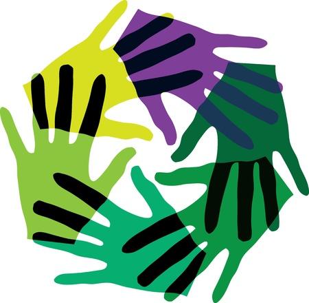 Unie aanraking Vector Illustratie