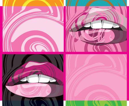 Beautiful woman lips illustration Vector
