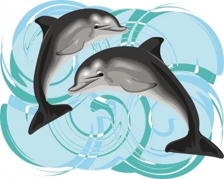 delfin: Dolphin ilustracji wektorowych