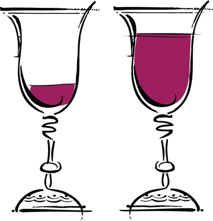 Glasses of wine illustration Stock Vector - 10892331