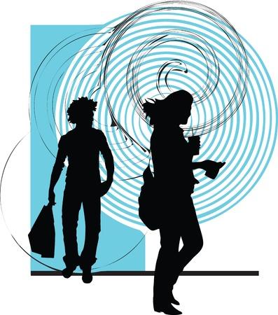 zaino scuola: Coppia illustrazione