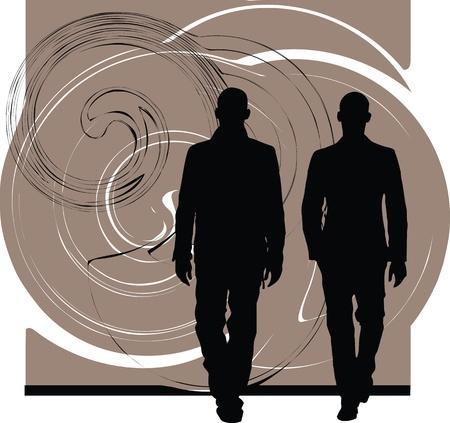 male figure: fashion & handsome business men illustration Illustration