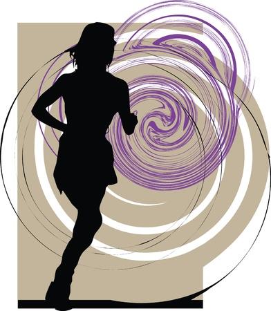 Running woman Stock Vector - 10892406