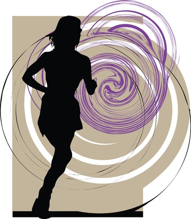 Running woman Stock Vector - 10892406