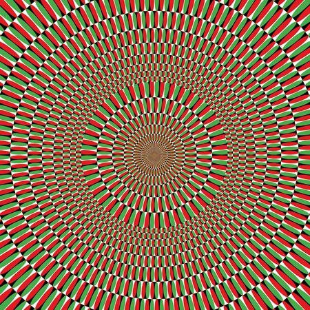 Optical effect of movement Illustration